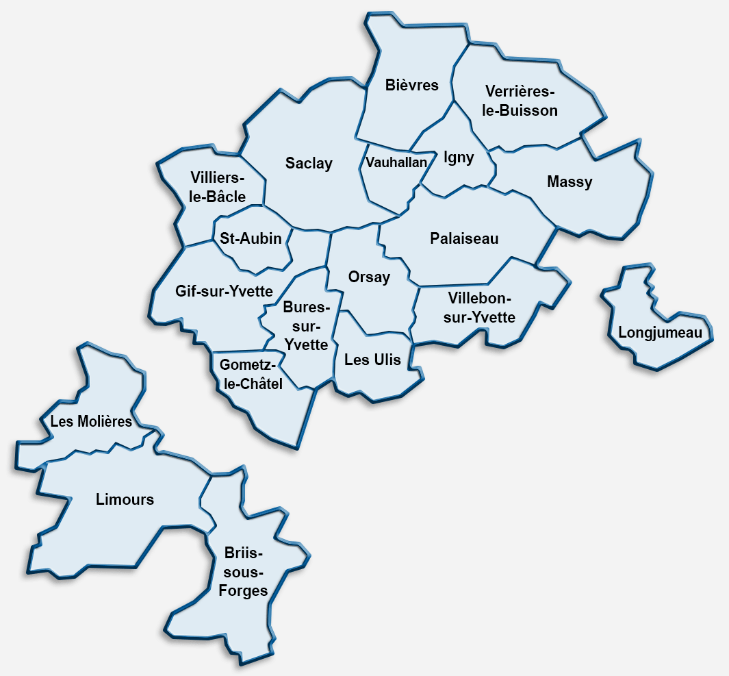 Carte de la zone d'intervention de MSSD